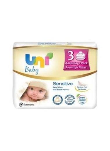 Uni Baby Uni Baby Sensitive Islak Havlu 3'lü Renkli
